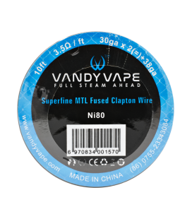 VandyVape Superfine MTL Fused Clapton Wire (Ni80)