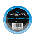 VandyVape Superfine MTL Fused Clapton Wire (SS316L)