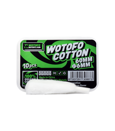 Wotofo Agleted Organic Cotton 6mm (10 Stk.)